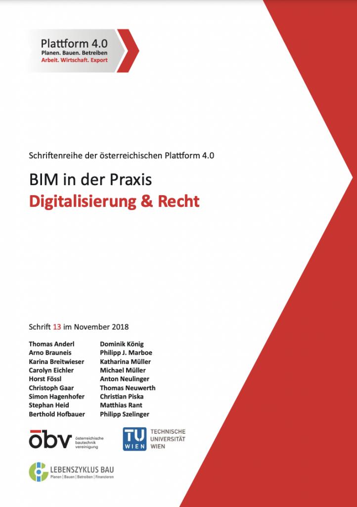 BIM in der Praxis | Digitalisierung & Recht (2018)