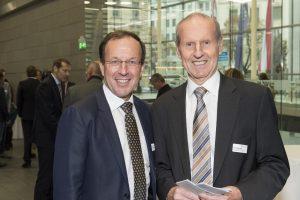 Wolfgang Gleissner, einer der Geschäftsführer der BIG, mit Heinz Brandl, TU Wien als immer gern gesehene Gäste.