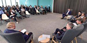 Die Mitgliederveranstaltungen immer gut besucht: hier 2018 bei der Diskussion um digitale Lösungen im Gebäudelebenszyklus.